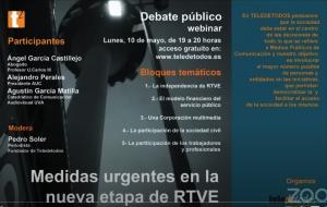 Medidas urgentes en la nueva etapa de RTVE. Debate público
