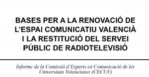 Informe de la Comisión de Expertos en Comunicación de las Universidades Valencianas