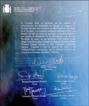 Dictamen Reforma RTVE 2006: Apartado de Canales internacionales